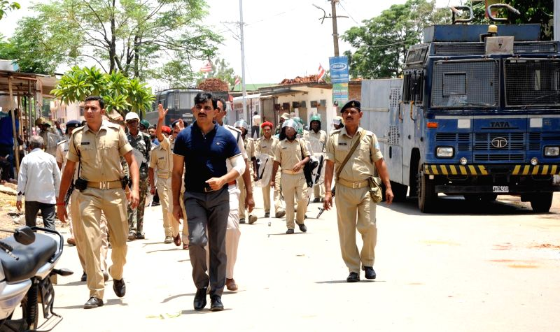 Security beefed up in Ranchi after two groups clashed with each other on June 3, 2017.