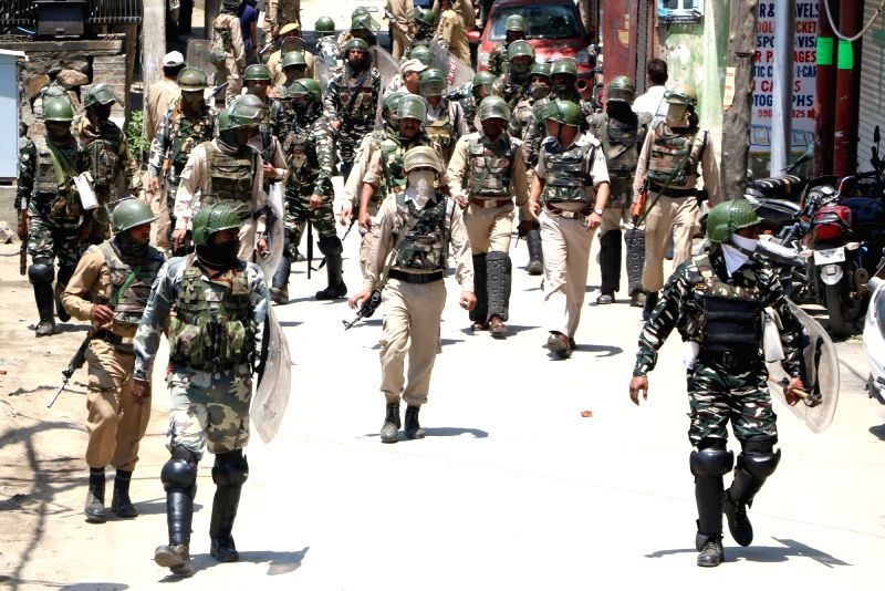 Security beefed up in Srinagar after Hizbul Mujahideen commander, Sabzar Bhat who succeeded slain militant, leader Burhan Wani, was killed  along with another militant in a gunfight with ...