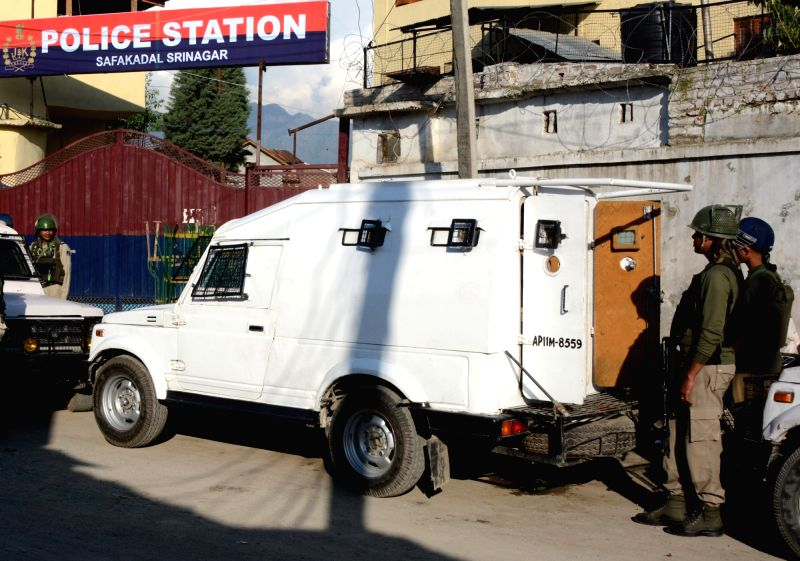 Security beefed up in Srinagar after militants hurled a grenade at Srinagar's Safa Kadal police station injuring a civilian and a policeman on May 18, 2017. The attack took place as union ... - Arun Jaitley