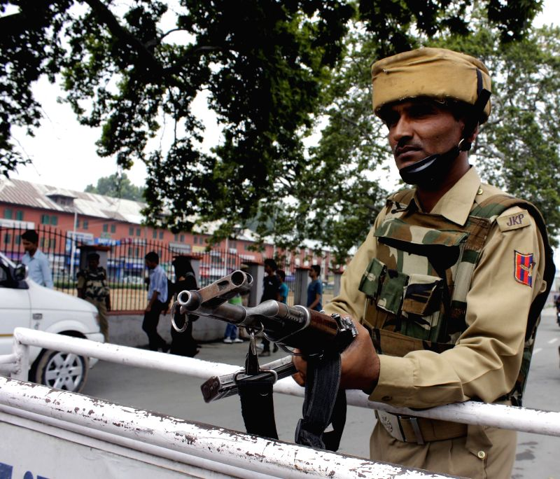 Security beefed-up in Srinagar ahead of Prime Minister Narendra Modi's visit on July 2, 2014. - Narendra Modi