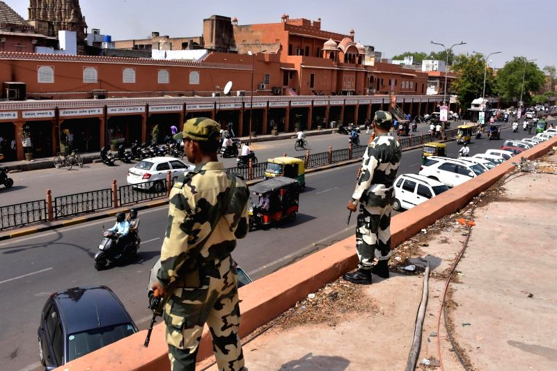 Security has been tightened across Rajasthan after reports of infiltration of four terrorists into India from Gujarat border, a senior police officer said. (Photo: Ravishankar Vyas/IANS)