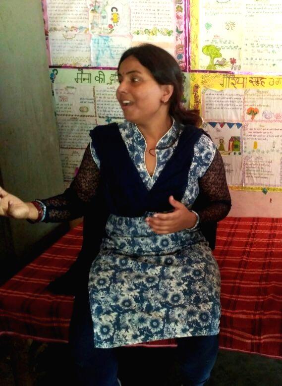 Seema Yadav has been teaching at Udaan school for the last 18 years. - Seema Yadav