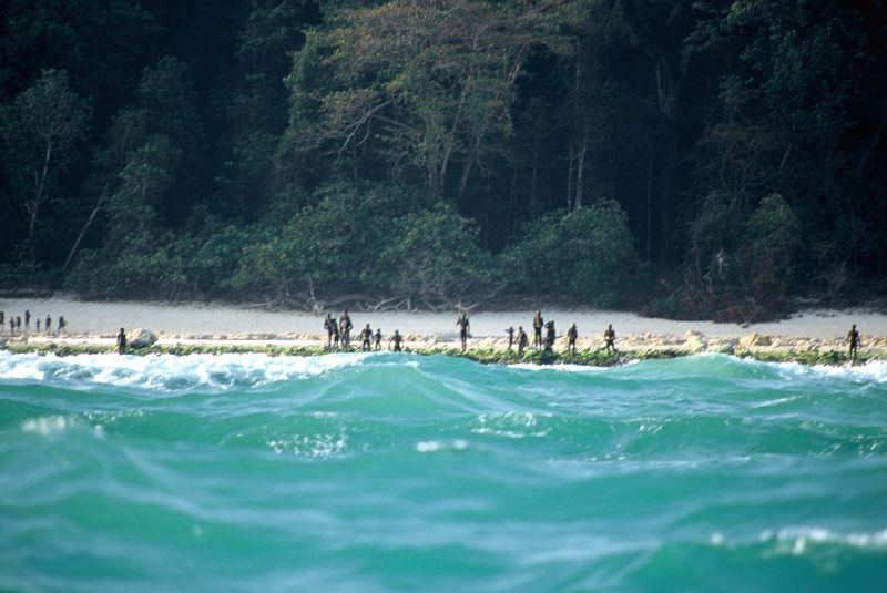 Sentinalese tribe in Andamans back in focus.