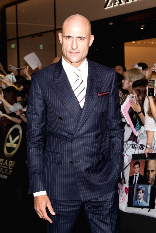 "SEOUL, Sept.20, 2017 - Actor Mark Strong attends the red carpet event of the movie ""KING'S MAN:THE GOLDEN CIRCLE"" in Seoul, South Korea, Sept. 20, 2017. The film will be released in South ... - Mark Strong"