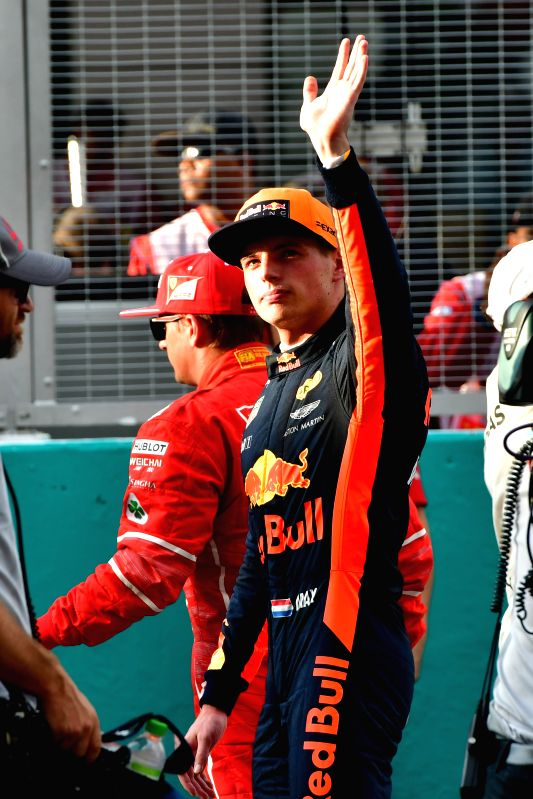 SEPANG, Sept. 30, 2017 - Red Bull driver Max Verstappen of the Netherlands waves to spectators after the qualifying session at the Formula One Malaysia Grand Prix at the Sepang Circuit in Malaysia, ...