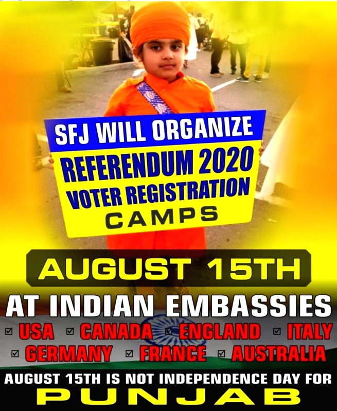 SFJ plans 'Referendum 2020' camps outside Indian missions in 7 nations on I-Day (IANS Exclusive)