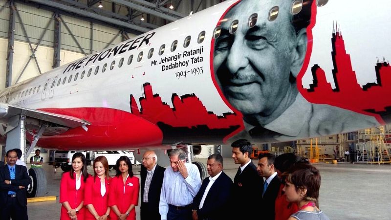 AirAsia India unveils its fourth aircraft with a livery dedicated to JRD Tata as a mark of respect to the pioneer of civil aviation in presence of Chairman Emeritus of Tata Sons, Ratan N ... - Tony Fernandes