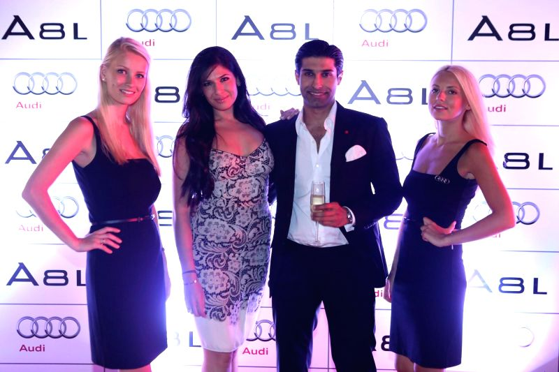 Shana Levy and Uraaz Bahl during the launch of Audi A8L in Dubai.
