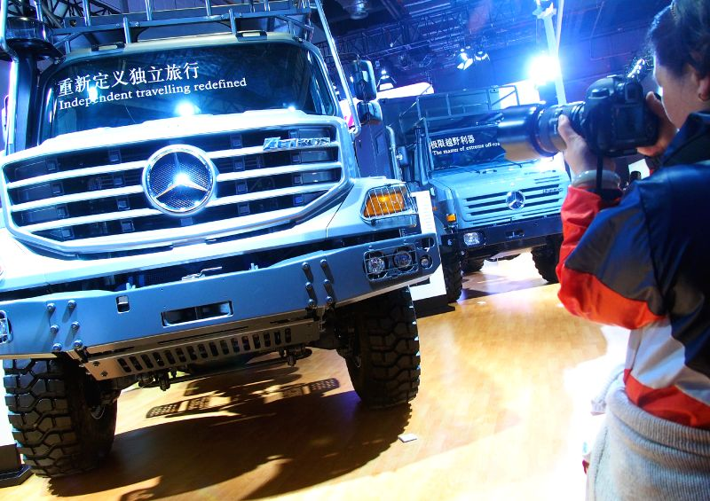 Photo taken on April 20, 2015 shows a vehicle displayed in the Auto Shanghai 2015, east China's Shanghai. A total of 1,343 complete vehicles were on display, ...