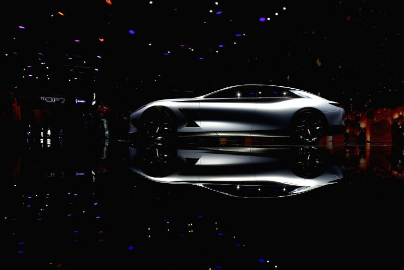 Photo taken on April 20, 2015 shows the latest vehicle of Infiniti displayed in the Auto Shanghai 2015, east China's Shanghai. A total of 1,343 complete vehicles ...