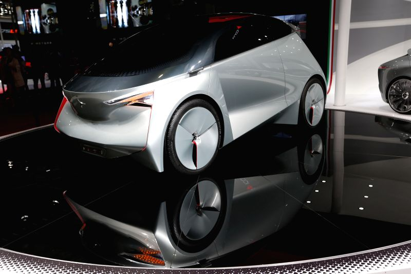 A concept car is displayed at 2015 Shanghai International Automobile Industry Exhibition in Shanghai, China, April 22, 2015. A total of 1,343 complete vehicles ...
