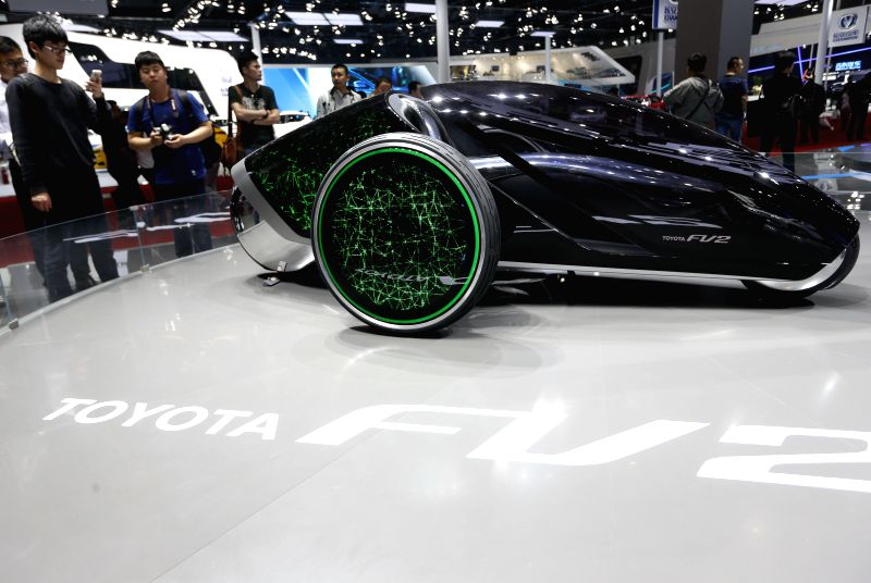 A Toyota concept car is displayed at 2015 Shanghai International Automobile Industry Exhibition in Shanghai, China, April 22, 2015. A total of 1,343 complete ...