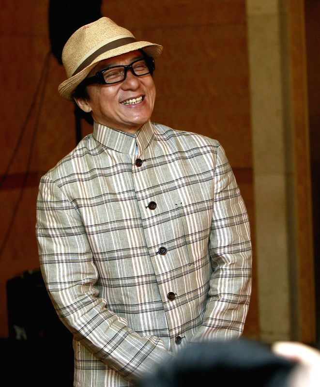 Actor Jackie Chan in Shanghai to attend the ``International action Jackie Chan Film Week`` the press conference and announced since 2015, jointly organized with ...