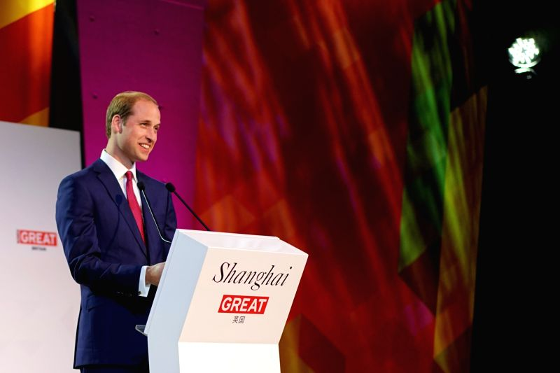 Britain's Prince William attends the GREAT Festival of Creativity in Shanghai, east China, March 2, 2015.  (Xinhua/Yang Yijun)