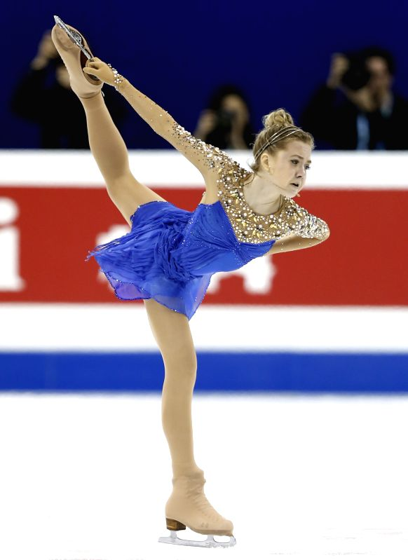 Elena Radionova of Russia competes during Ladies' Free Skating segment in ISU World Figure Skating Championships 2015 at Crown Indoor Stadium, Oriental Sports ...