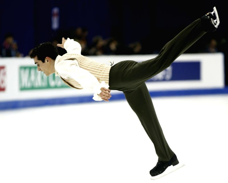Javier Fernandez of Spain competes during the Men's Free Skating segment in ISU World Figure Skating Championships 2015 at Crown Indoor Stadium, Oriental Sports ...