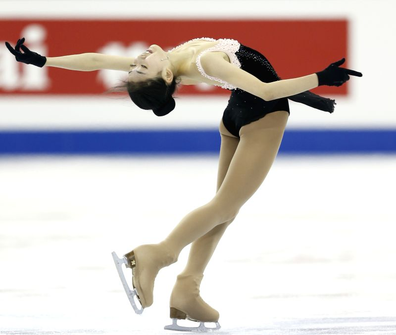 Li Zijun of China competes during the Ladies' Free Skating segment of the ISU World Figure Skating Championships 2015 at the Crown Indoor Stadium of the Oriental ...