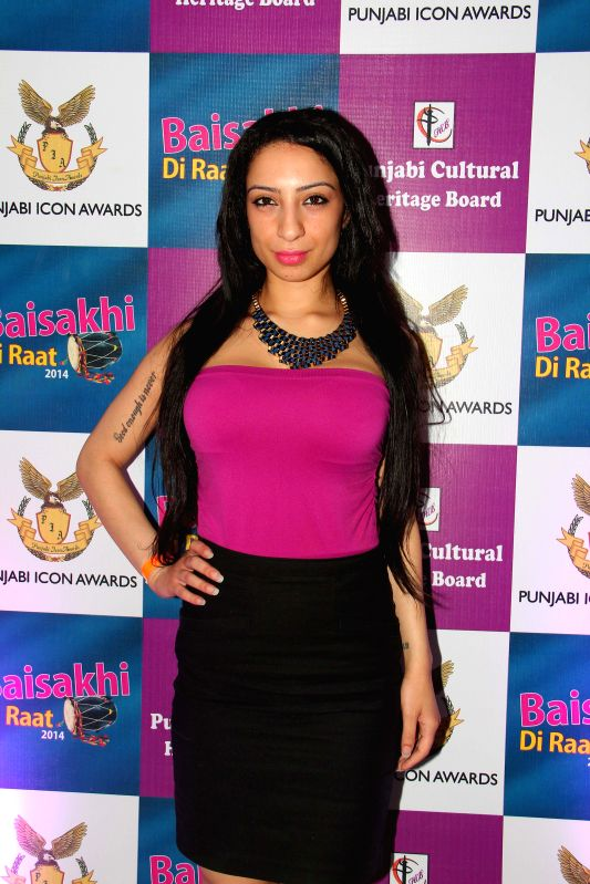 Shanti Dynamite during the Baisakhi celebrations organized by the Punjabi Cultural Heritage Board in Mumbai on April 11, 2014.