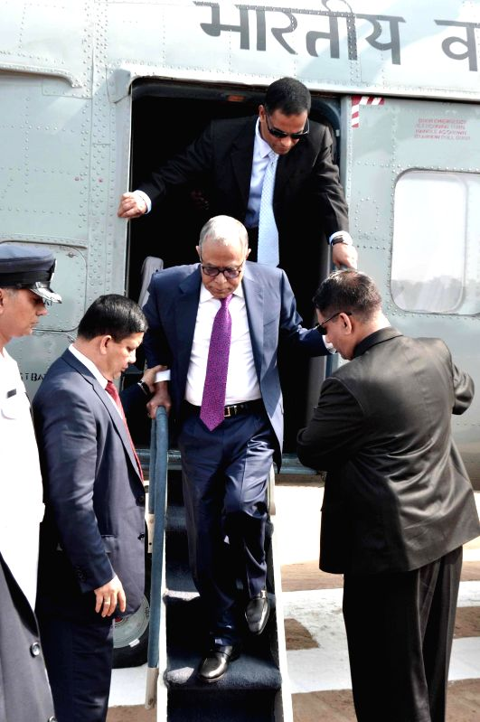 Bangladesh President Md. Abdul Hamid arrives in Shantiniketan, West Bengal  to participate in Poush Mela on Dec 23, 2014.