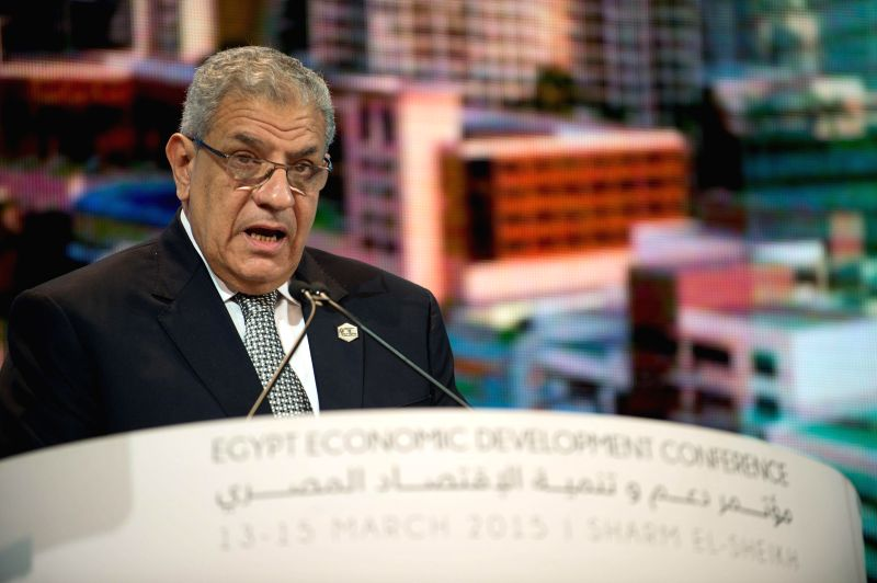 Egypt's Prime Minister Ibrahim Mahleb delivers a speech at a panel on Egypt Economic Development Conference (EEDC) held in Sharm el Sheikh, a Red Sea ... - Ibrahim Mahleb