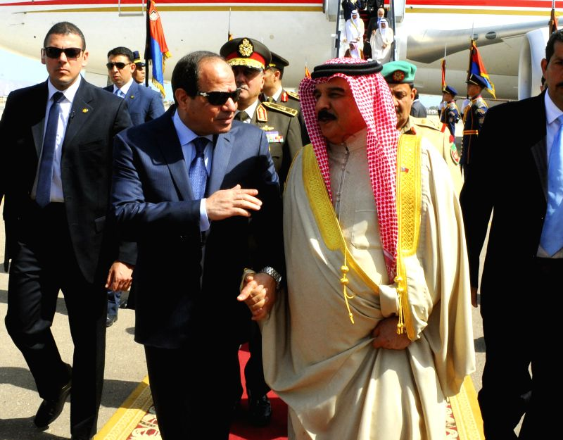 SHARM EL-The handout photo from Egypt's state-run news agency MENA shows Egyptian President Abdel-Fattah al-Sisi (L front) receiving Yemeni President Abd-Rabbo ...