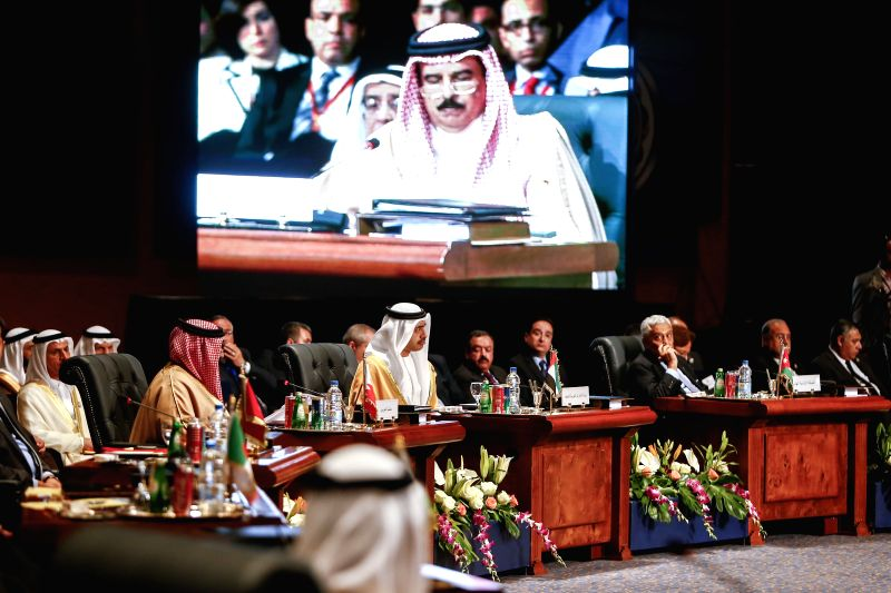 SHARM EL-Delegates of Arab countries attend the Arab League Summit in Sharm El-Sheikh, Egypt, March 28, 2015. The 26th Arab League Summit opened here on Saturday, ...