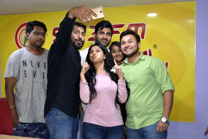 Sharwanand during the programme of Radio Mirchi Vijayawada.