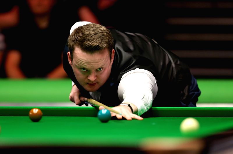 Shaun Murphy of England competes during his second round match against Zhou Yuelong of China at Snooker UK Championship 2015 in York, England on Nov. 28, 2015. Murphy ...