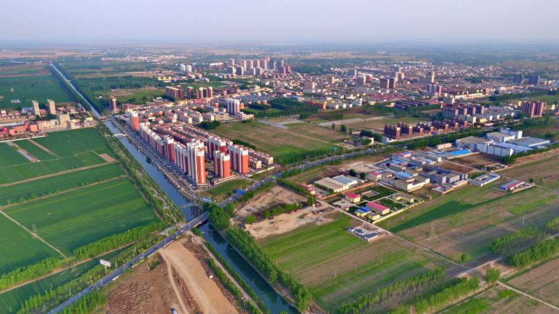 SHIJIAZHUANG, April 27, 2017 - Photo taken on April 24, 2017 shows the scenery of the county seat of Anxin, north China's Hebei Province. China announced the plan for Xiongan New Area, an economic ...