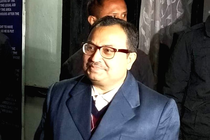 Shillong: Former Trinamool Congress MP Kunal Ghosh arrives at CBI office in Shillong on Feb 11, 2019. He is being interrogated in connection with the Saradha and Rose Valley chit fund scams. (Photo: IANS)(Image Source: IANS News)