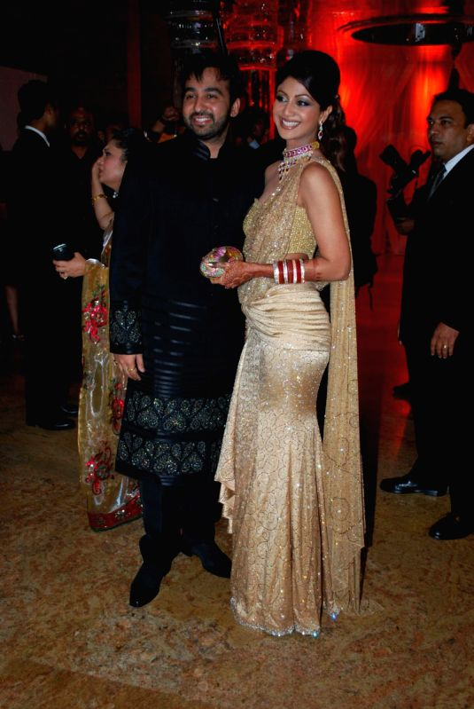 Shilpa Shetty Raj Kundra At Their Wedding Reception