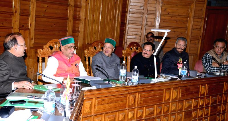 The Union Minister for Health and Family Welfare Jagat Prakash Nadda and the Union Minister for Agriculture Radha Mohan Singh asses the damages to crops during the unseasonal rains and hail ...