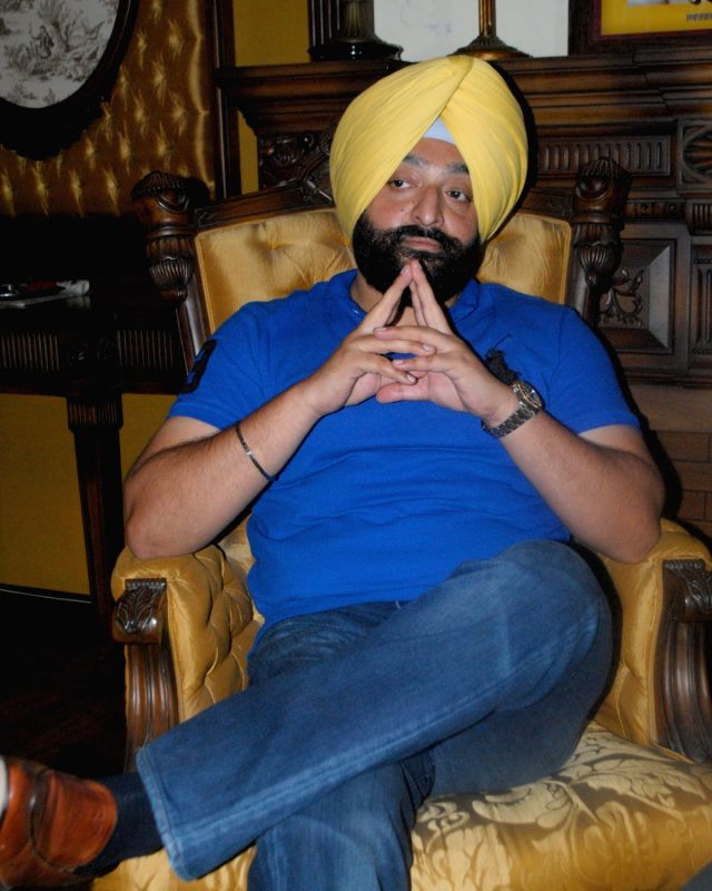 Shiromani Akali Dal (SAD) MLA from Amritsar Inderbir Singh Bolaria talks to press after the party President and Punjab Deputy Chief Minister Sukhbir Singh Badal suspended him from the party ... - Sukhbir Singh Badal