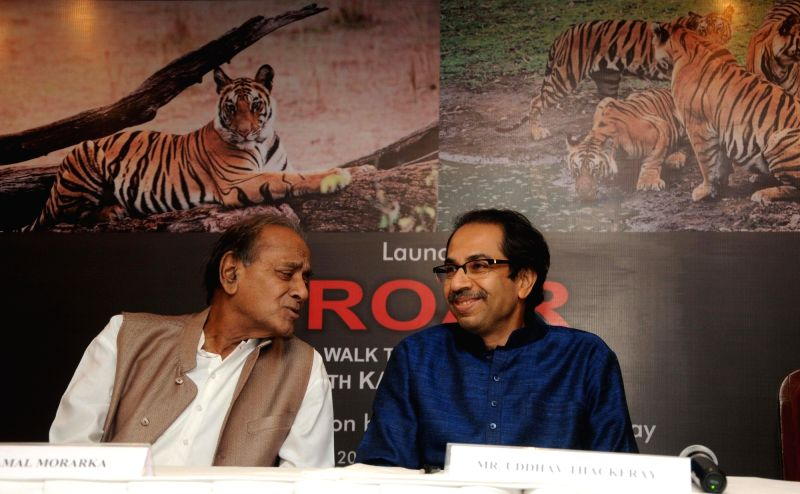 "Uddhav launches ""Roar"" - his wildlife photography book"