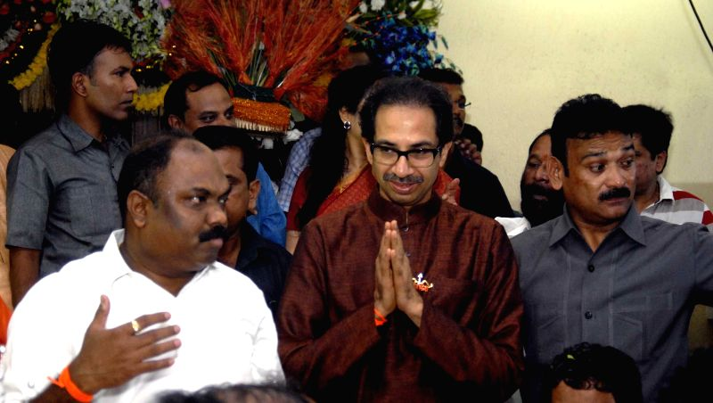Shiv Sena chief Uddhav Thackeray during his birthday celebrations in Mumbai on July 27, 2014.