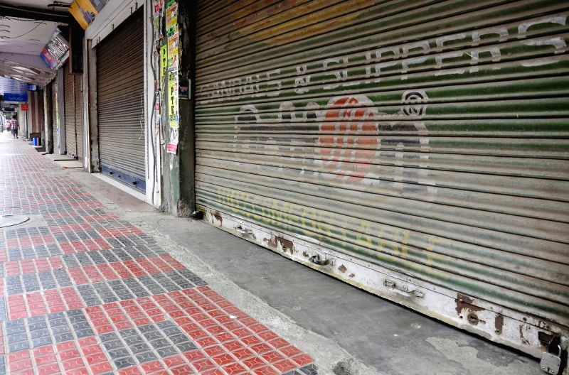 Shops remain closed during a strike called by radical Sikh organisation on the anniversary of Operation Bluestar in Amritsar on June 6, 2017.