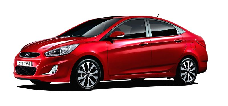 Shown is the photo of Hyundai Motor Co.'s 2017 Accent subcompact car released by the company on May 19, 2017.