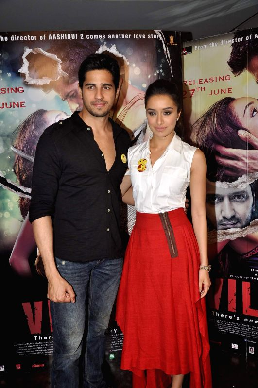 Shraddha Kapoor and Sidharth Malhotra during a media interaction of film Ek Villian in Mumbai June 16, 2014. - Shraddha Kapoor and Sidharth Malhotra