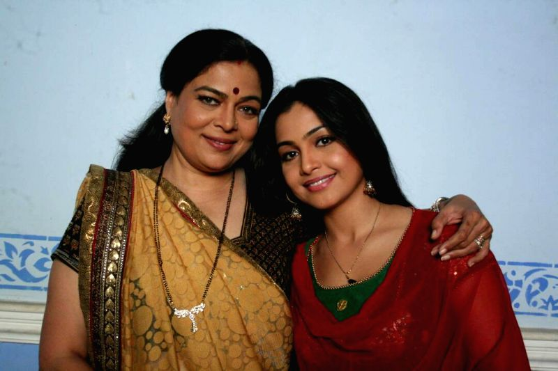 Shubhangi Atre Poorey with Reema Lagoo