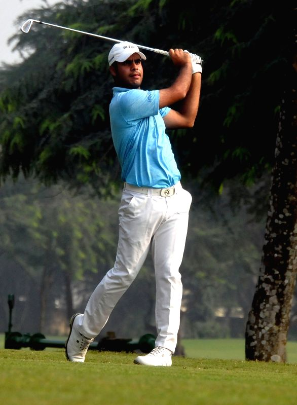 Shubhankar Sharma during McLeod Russel Tour Championship 2017 at RCGC in Kolkata, on Dec 23, 2017.