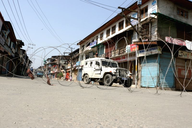Shutdown in Srinagar. (File Photo: IANS)
