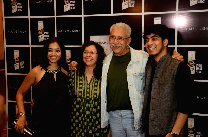 Shweta Basu Prasad, Shernaz Patel, Naseeruddin Shah and Adhiraj Bose at the launch of Royal Stag Barrel Select Large Short Films\' Interior Cafe Night - Shweta Basu Prasad, Shernaz Patel, Naseeruddin Shah and Adhiraj Bose