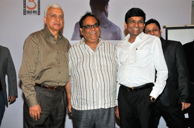 Shyam Shroff, SAtish Kaushik and Jayantibhai Gada during the Gold Reel Productions launch party in Mumbai Dec 1, 2015