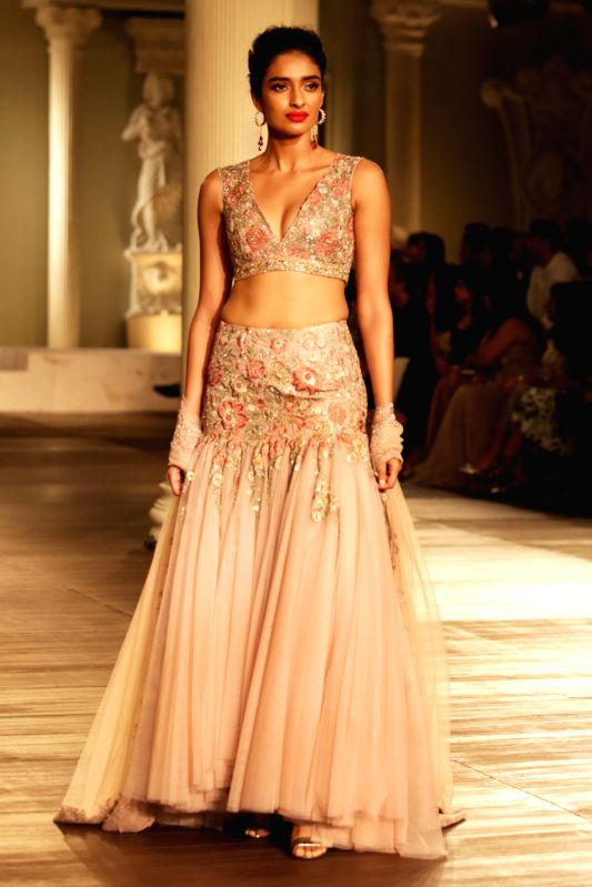 Shyamal and Bhumika presents wedding fashion inspiration collections, at India Couture Week 2018, in New Delhi, on July 29, 2018.