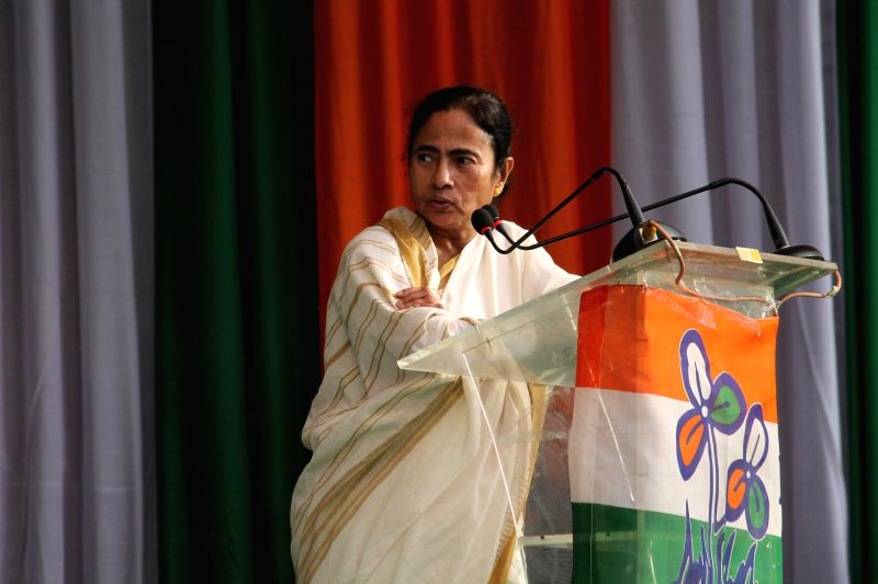 West Bengal Chief Minister Mamata Banerjee addresses during a programme in Siliguri, West Bengal on Dec 2, 2014. - Mamata Banerjee