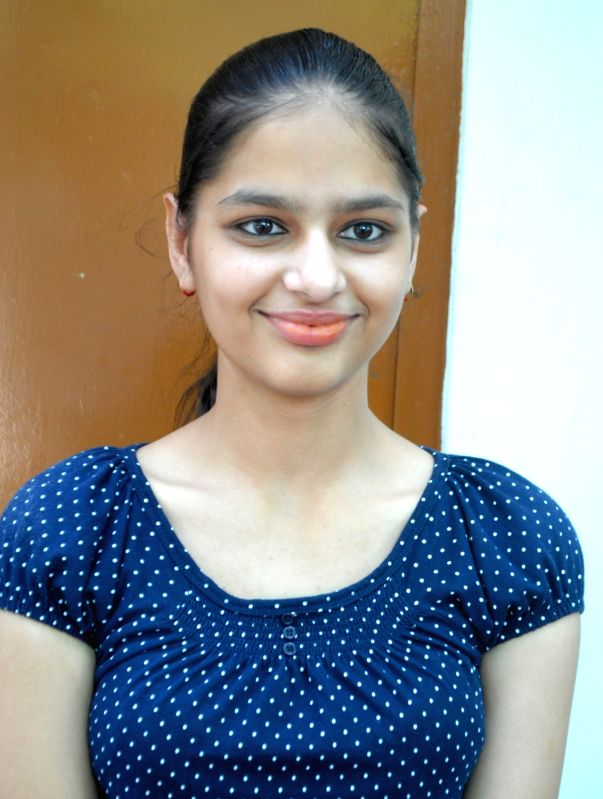 Simranpreet Kaur, who secured second rank in class X exams conducted by Punjab School Education Board in Amritsar, on May 24, 2016. - Simranpreet Kaur