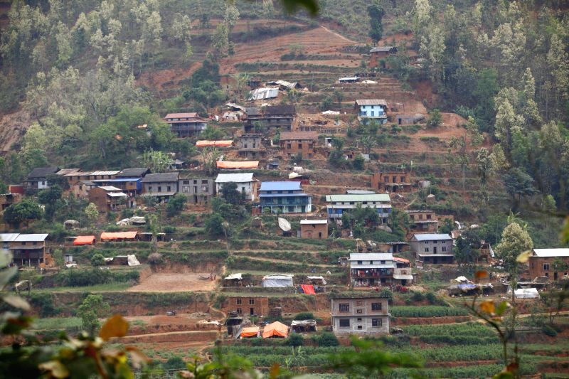 Buildings are destructed after earthquake at Sindhupalchowk district, Nepal, April 29, 2015. By noon on Wednesday, more than 1,376 people had already been ...