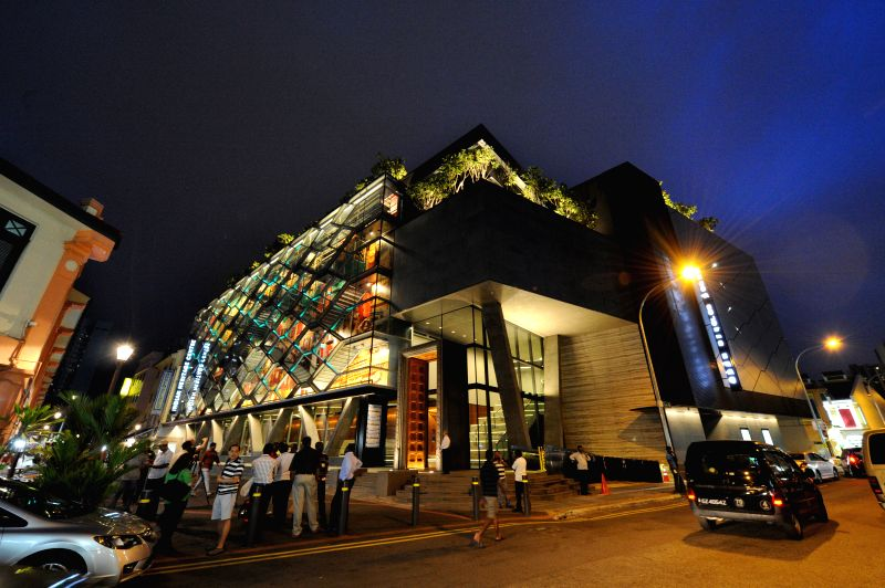 Photo taken on April 22, 2015 shows the Indian Heritage Centre in Singapore. The Indian Heritage Centre (IHC), located at Singapore's Little India, held a media ...