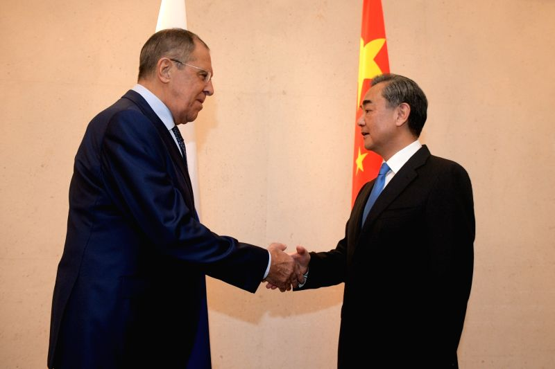 SINGAPORE, Aug. 3, 2018 - Chinese State Councilor and Foreign Minister Wang Yi (R) meets with Russian Foreign Minister Sergei Lavrov on the sidelines of the ASEAN foreign ministers' meeting and ... - Wang Y