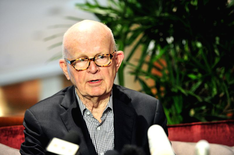 Former U.S. special representative for DPRK policy Stephen Bosworth attends the press conference in Sheraton Towers Singapore on Jan. 19, 2015. The chief nuclear .